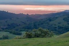 Заход солнца долины Santa Clara на весеннем времени Стоковые Фото