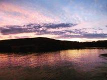 Заход солнца Патагонии Стоковая Фотография RF