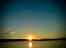 Заход солнца падения Стоковые Фото