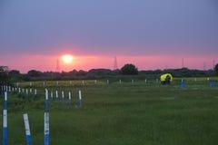 Заход солнца перед штормом Стоковые Изображения