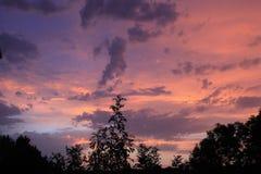 Заход солнца после дождя лета Стоковое Изображение RF