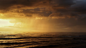 Заход солнца после шторма Стоковое Изображение RF