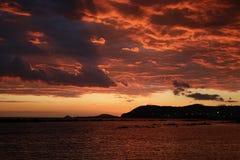 Заход солнца после шторма Стоковая Фотография RF