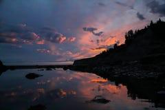 Заход солнца почтового голубя Стоковое Фото
