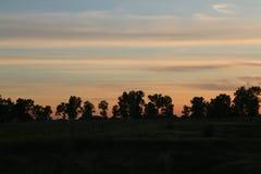 Заход солнца поля Стоковое Изображение RF