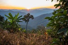 Заход солнца природы Стоковые Фото
