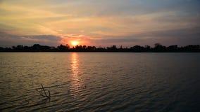 Заход солнца природы Beautyful сток-видео