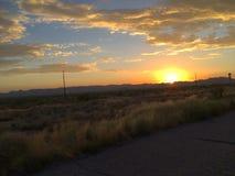 Заход солнца приходя домой Стоковая Фотография RF