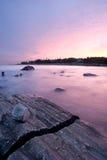 Заход солнца пункта Pemaquid Стоковое Изображение