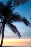 Заход солнца Пуэрто-Рико Каролины стоковое изображение