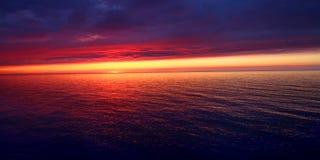 Заход солнца пляжа каникул Мичигана Стоковое Изображение RF