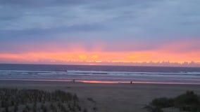 Заход солнца пляжа карамболя Стоковое Изображение RF