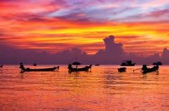 заход солнца пляжа красивейший Стоковое Изображение RF