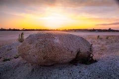 заход солнца пляжа красивейший Стоковая Фотография RF