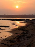 Заход солнца пляжа Окинавы Kanna Стоковая Фотография