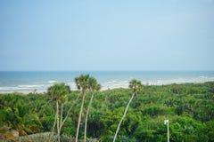 Заход солнца пляжа Флориды атлантический Стоковое Изображение RF