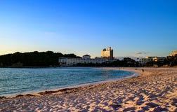 Заход солнца пляжа Японии Shirahama стоковые изображения rf