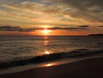 Заход солнца 004 пляжа Стоковые Изображения