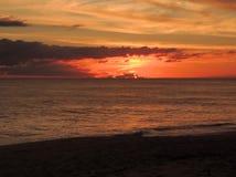Заход солнца 006 пляжа Стоковая Фотография RF