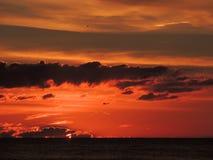 Заход солнца 009 пляжа Стоковое фото RF