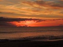 Заход солнца 011 пляжа Стоковое Изображение RF