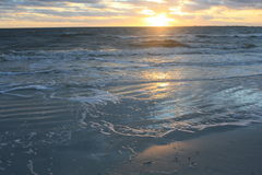 Заход солнца пляжа Fort Myers Стоковые Фотографии RF