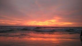 Заход солнца пляжа Goa Стоковые Фото