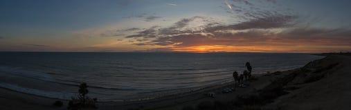 Заход солнца пляжа onofre Сан Стоковое фото RF