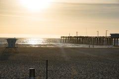 Заход солнца пляжа Pismo Стоковое Фото
