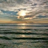 Заход солнца пляжа St Pete Стоковые Изображения RF