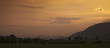 Заход солнца района озера Стоковые Изображения