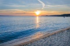 Заход солнца раннего лета Стоковая Фотография RF