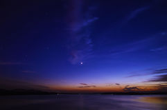 Заход солнца резервуара Стоковая Фотография