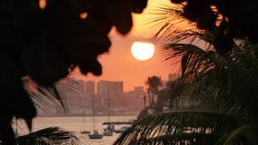 Заход солнца Рио-де-Жанейро Стоковое Изображение RF