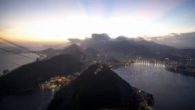Заход солнца Рио de Janerio Стоковые Фотографии RF