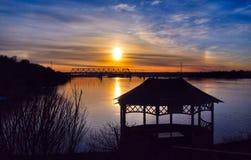 заход солнца России Стоковые Изображения