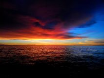 Заход солнца самостоятельно Стоковое Изображение