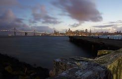 Заход солнца Сан-Франциско Стоковые Изображения