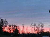 Заход солнца северный Мичиган Стоковое фото RF