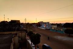 Заход солнца Сенегала Стоковое Фото