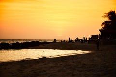 Заход солнца Сенегала Стоковые Изображения RF