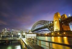 Заход солнца Сидней Стоковое Изображение