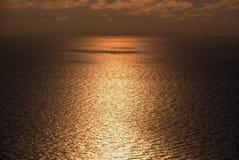 Заход солнца Сочи Чёрного моря Стоковое фото RF