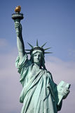 заход солнца статуи newyork вольности города Стоковое Изображение RF