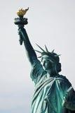 заход солнца статуи newyork вольности города Стоковые Изображения RF
