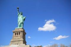 заход солнца статуи newyork вольности города Стоковые Фотографии RF