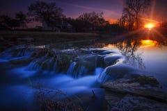 Заход солнца страны Техаса Стоковое фото RF