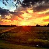 Заход солнца страны Стоковое Изображение RF