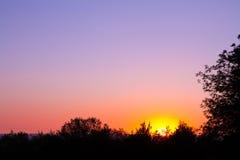 Заход солнца сумрака Стоковое Фото