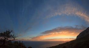 Заход солнца, сумрак Стоковое Изображение RF